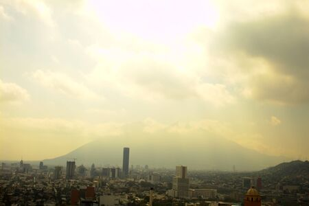 View of the City of Monterrey in the background the most representative chair Hill in the city