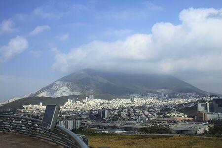 Flagstaff lookout in Monterrey overlooking Mitras Hill