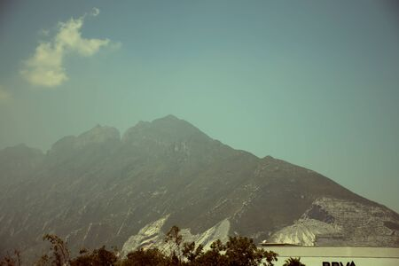 View of the Monterrey Mountains