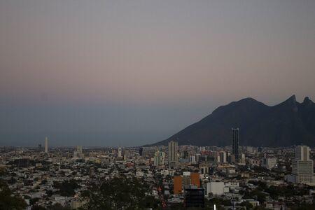 Sunset view in Monterrey Mexico