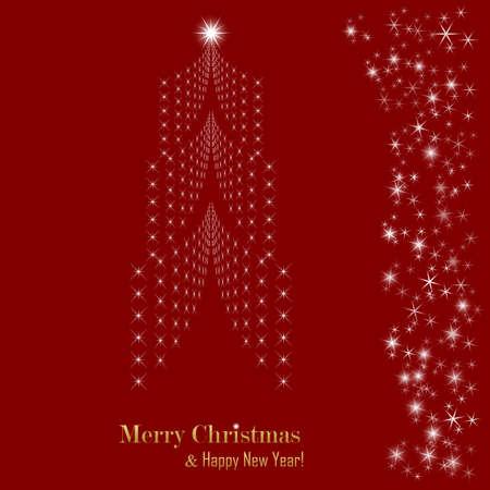 Christmas card. Christmas tree. Vector Illustration eps 10 illustration
