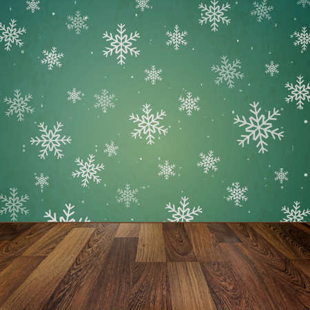 skirting: Christmas holiday background with wooden floor