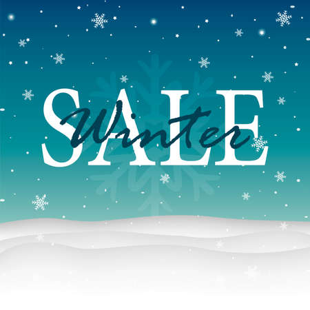 Sale poster. Winter sale. Abstract design with bokeh. Christmas sale background Vector