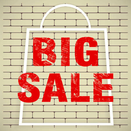 Big sale poster. Big Sale folding design Vector