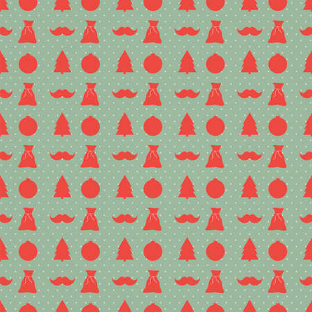 Christmas and New Year vector background. Pattern Vector