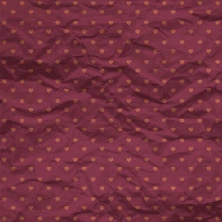 pattern pois: Cuori Seamless Polka dot pattern con carta stropicciata. Illustrazione vettoriale.