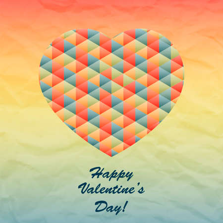 Vector Geometric Heart for Valentines Day Design. Vector Love Design Vector