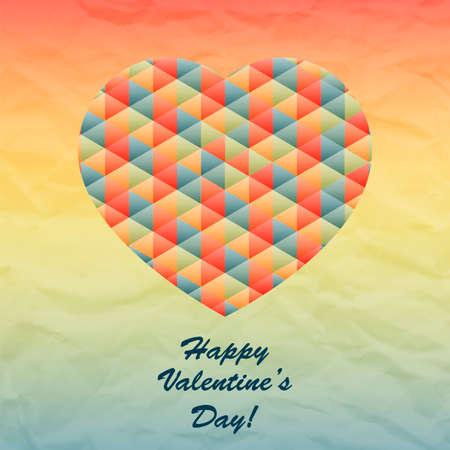 st valentin: Vector Geometric Heart for Valentines Day Design. Vector Love Design