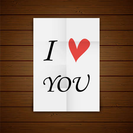 Love quote poster. Effects poster, frame, colors background and colors text are editable. Happy Valentines card. I love you. Vector