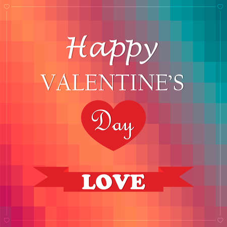 Valentines Day poster. Typography. Vector illustration Vector