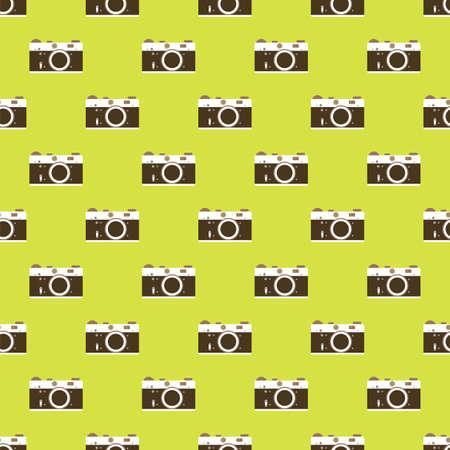 film history: Camera seamless pattern background. Vector illustration