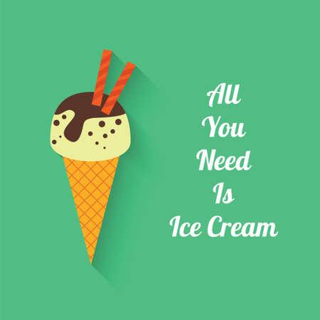 gelatina: Estilo plano con la sombra, helado icono de ilustraci�n vectorial. Todo lo que necesitas es el helado