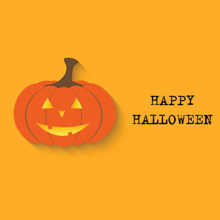 31: Halloween vector  background with pumpkin. Vector illustration