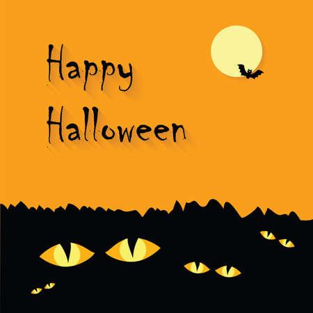 Happy Halloween  Poster. Vector illustration. Vector