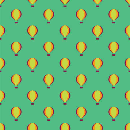 Hot air balloons seamless pattern background. Vector illustration Vector