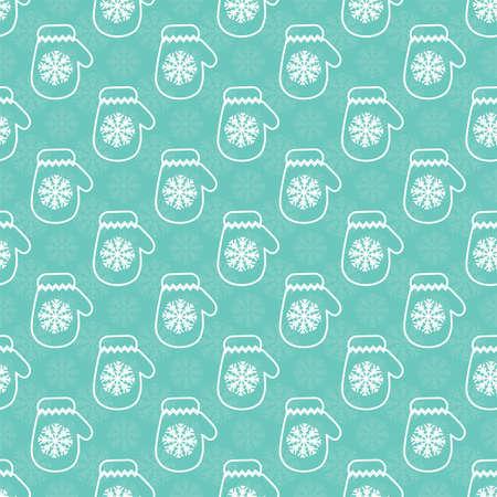Winter Mittens Seamless Vector Pattern. Vector illustration illustration