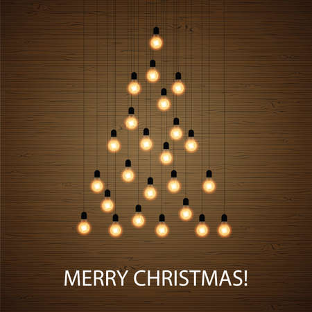 arranged: Christmas bulb lights arranged of Christmas tree. Christmas tree made of light bulbs