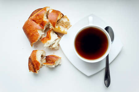 bread roll: Coffee Cup and Bread Roll