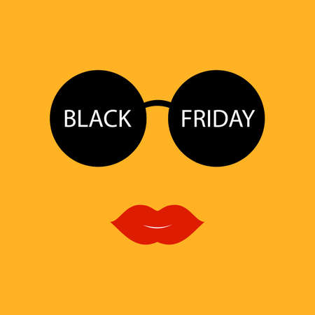 Vector sale poster advertising Black Friday. Sunglasses Black Friday sale.