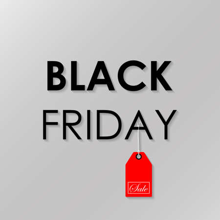 black a: Black Friday Sale. Vector illustration Stock Photo