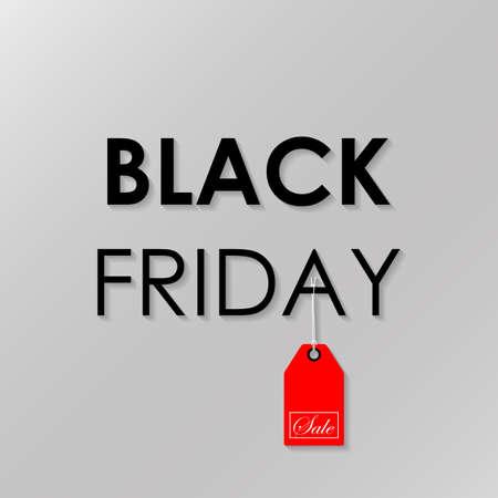 Black Friday Sale. Vector illustration Standard-Bild