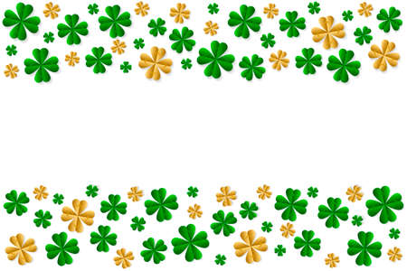 Creative background to the day of St. Patrick, clover and place for text.