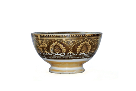 antique ceramic tableware isolated on white