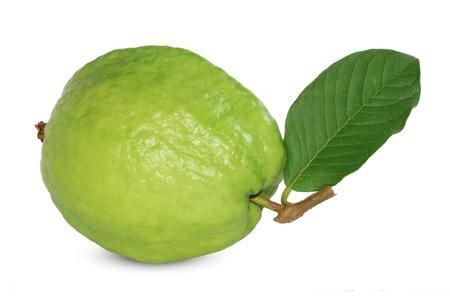 guava fruit isolated on white background 免版税图像