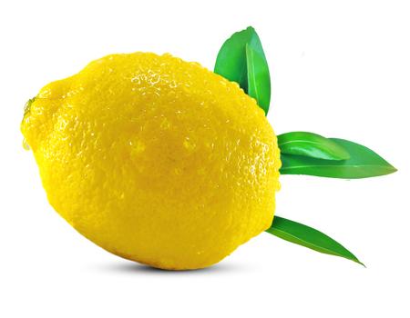 Fruta de limón aislado en blanco