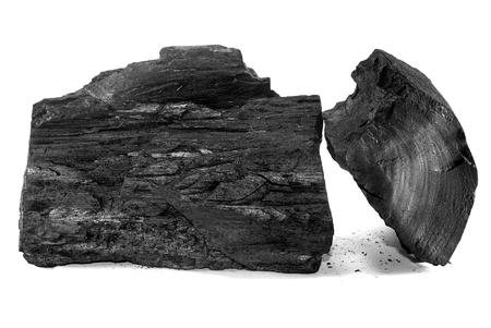 Charcoal isolated on white background 版權商用圖片