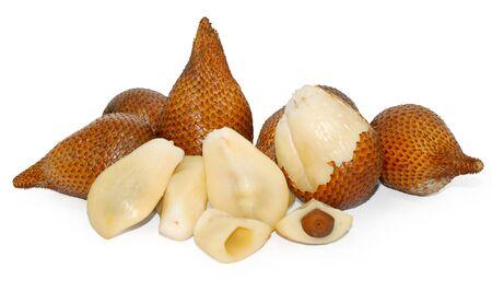 Snake skin fruit, Salak fruit isolated on white background