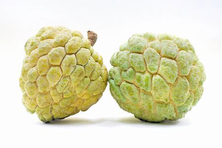 Annona or Custard apple isolated on white background 스톡 콘텐츠