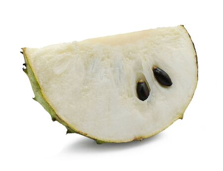 Soursop, Prickly Custard Apple isolated on white 스톡 콘텐츠