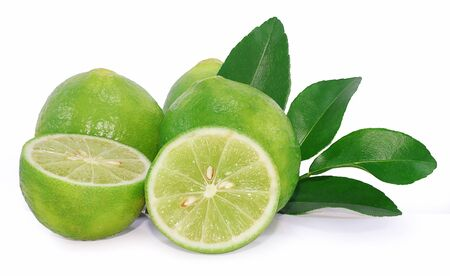 Lime fruit isolated on white background Фото со стока