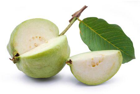 Guava fruit isolated on white background