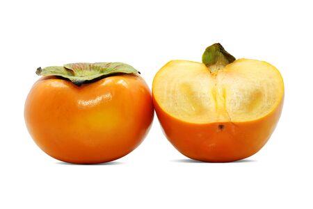 Fresh Persimmon fruit isolated on white background Stockfoto