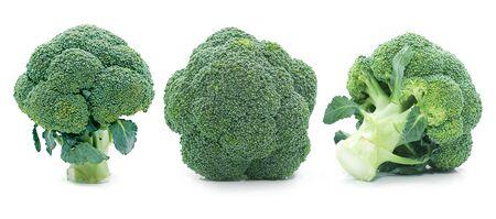 Fresh Broccoli isolated on white background Stockfoto