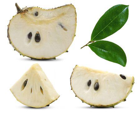 Soursop, Prickly Custard Apple isolated on white background Stockfoto