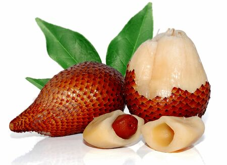 Salacca or Snake fruits isolated on white background Archivio Fotografico