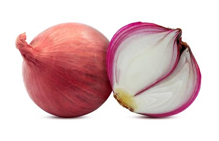 Red onion vegetable isolated on white background Banco de Imagens