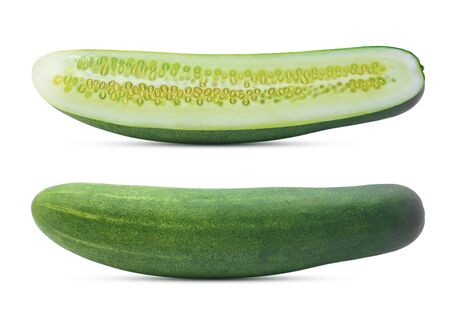 cucumber isolated on white background Banco de Imagens