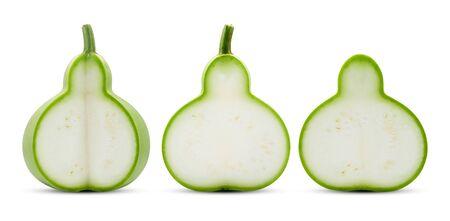 Calabash or Bottle Gourd isolated on white background Banco de Imagens - 149922213