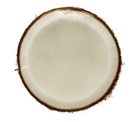 Coconut palm fruit isolated on white background