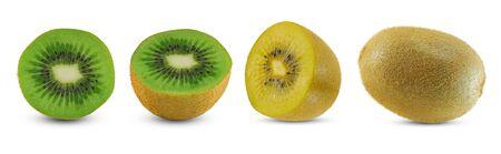 Kiwi fruit isolated on white background Banco de Imagens