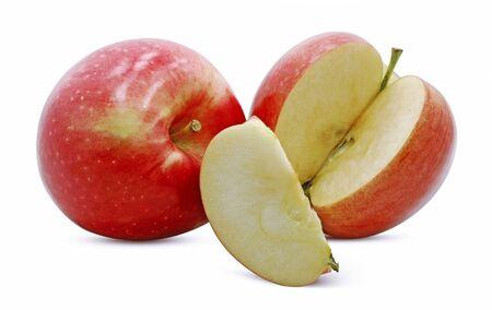 Fresh apple fruit isolated on white background Banco de Imagens