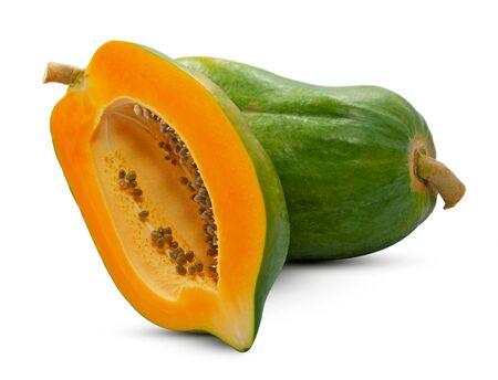 Papaya fruit isolated on white background Banco de Imagens - 149799458