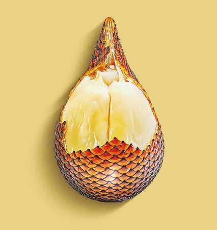 Snack skin fruit or Salak fruit isolated on white background Banco de Imagens