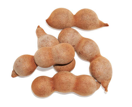tarmarind fruit isolated on white background