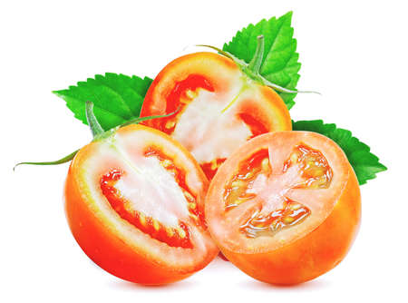 Fresh of tomato fruits isolated on white background