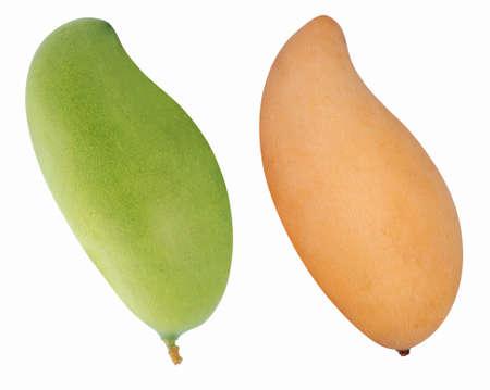 Mango fruit isolated on white background Banco de Imagens - 151468963